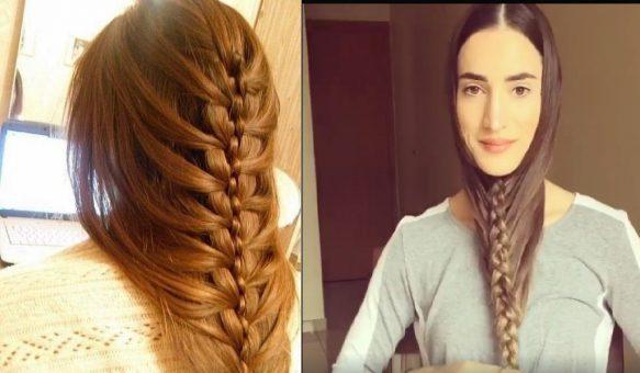 صورة تسريحة سهلة للشعر الطويل , جددي وبيني جمال شعرك الطويل باسهل استايلات 3615 3