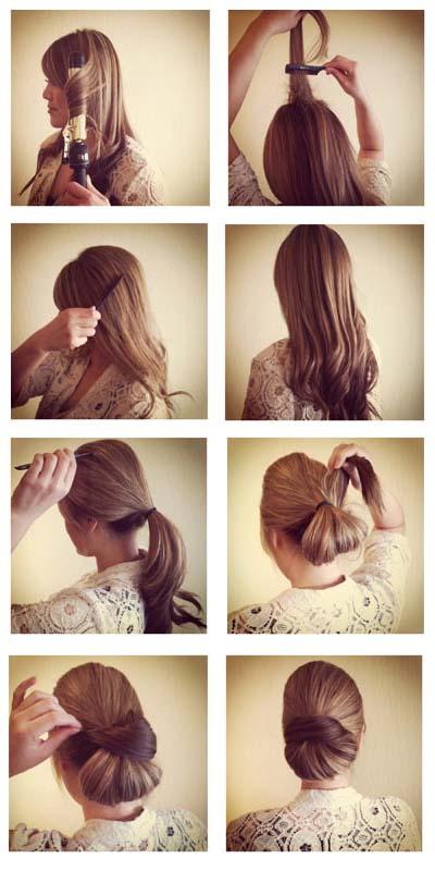 صورة تسريحة سهلة للشعر الطويل , جددي وبيني جمال شعرك الطويل باسهل استايلات 3615 9
