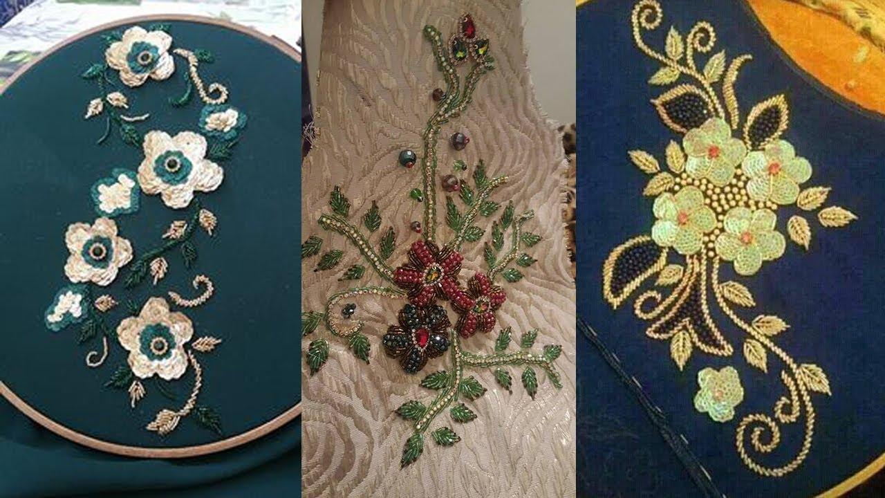 صور رشمات الطرز الرباطي في القفطان , رسومات تطريز مختلفة للعبايات والقفطان