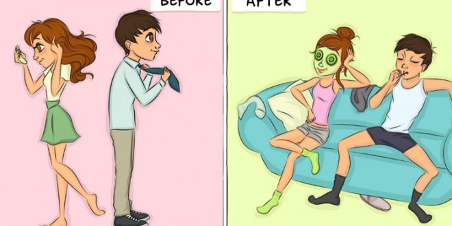 صورة قبل وبعد الزواج , تفاصيل عن حياة جميلة ما قبل وبعد الجواز