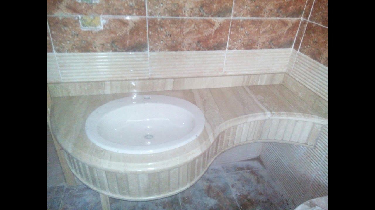 صور احواض رخام للحمام , اشيك موديلات احواض الحمامات