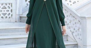 صور ملابس طويلة للمحجبات , اشيك موديلات للمحجبات ٢٠١٩