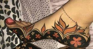 صورة احدث اشكال حنة سودانية , اجمل رسومات الحنة بالوان ثابتة لاطول مدة