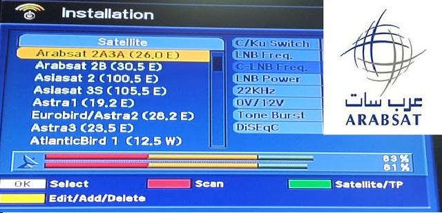 صورة ترددات قمر عربسات , جديد من ترددات القمر الصناعي عرب سات