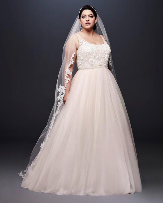 صورة فساتين زفاف للبدينات جدا , اجمل فساتين افراح للبنوتات السمينة