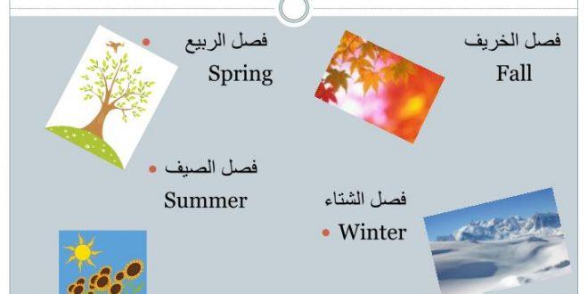 صورة فصول السنة بالانجليزي , ما معنى الربيع بالانجليزى
