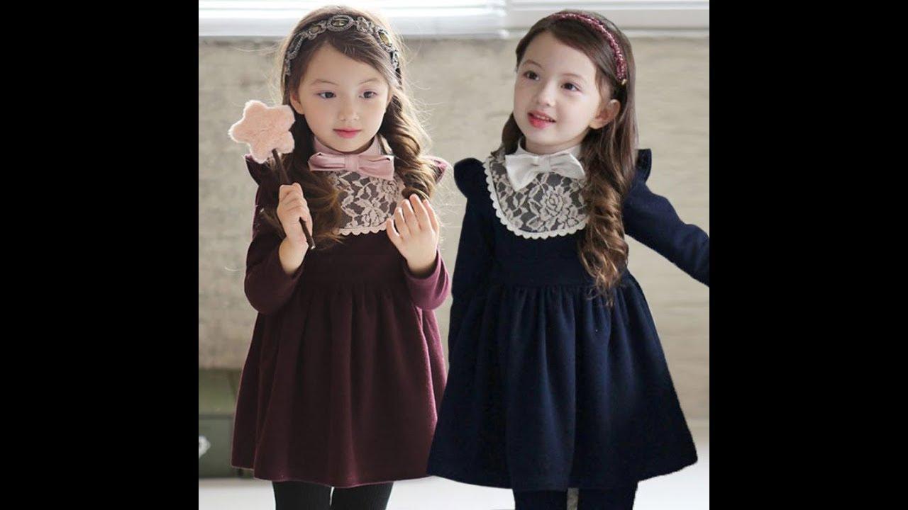 صورة فساتين قطيفة للبنات الصغار , اجمد دريسات للفتيات الزغننة من قماش القطيفة