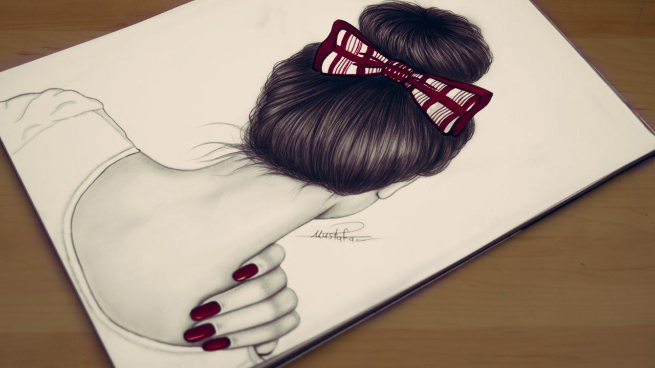 صور رسومات بنات سهله , خطوات سهلة جدا لرسم فتيات