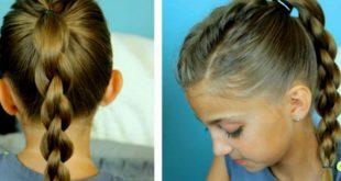 صور تسريحات للمدرسة سهلة , تسريحة شعر بنوتك جميلة
