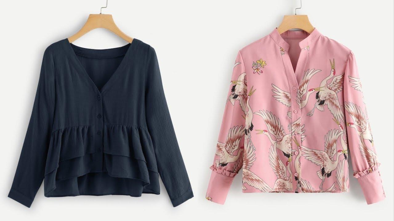 صورة بلوزات صيف 2019 للمحجبات , اشيك واحدث الملابس