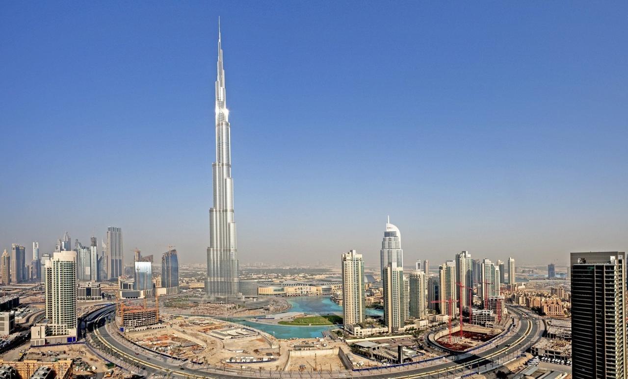 صورة ارتفاع برج خليفة , اطول برج بالعالم