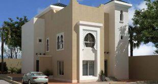 صورة واجهات منازل مغربية حديثة , تصميمات مودرن لوجهات المنازل