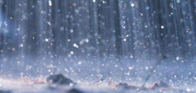 صورة كلام عن المطر , المطر في سطور