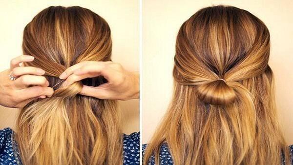 صورة طريقة ربط الشعر , اسهل طرق ربط الشعر للبنات