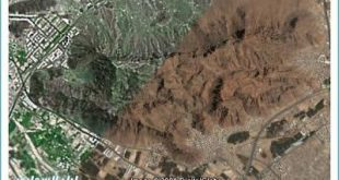 صورة جبل احد على شكل اسم محمد , صور نادرة لجبل احد