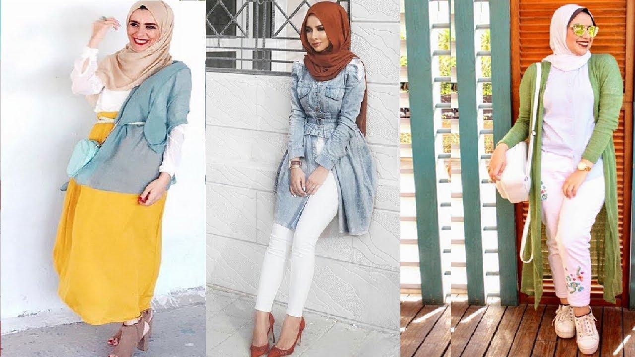صورة خياطة حجاب عصري , اشيك لفات الحجاب
