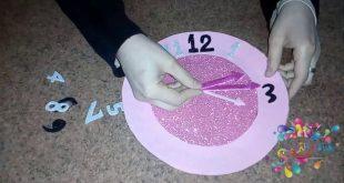 صورة عمل ساعة حائط للاطفال , جملي غرفة اطفالك بساعة حائط من صنع يدك