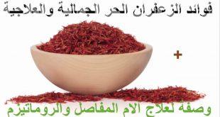 صورة فوائد الزعفران الحر , استخدامات الزعفران المفيدة