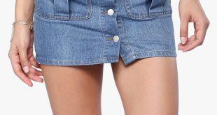 صورة تنورة جينز قصيرة، اجمل التنورات الجينز القصيره