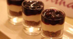 صورة وصفات حلى سهلة , كاسات حلوى البسكويات
