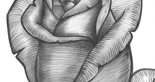 صورة أجمل رسومات للورد النادر,صور ورد مرسوم